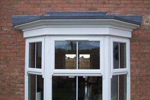 bow window canopies flat window to bay window bow grp lead tile effect roofs rw composites ltd